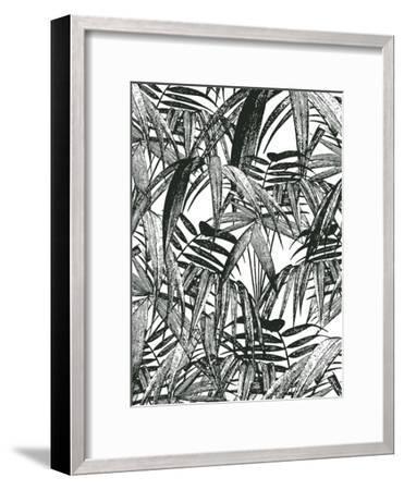 Vintage Palm Leaf-Lebens Art-Framed Art Print