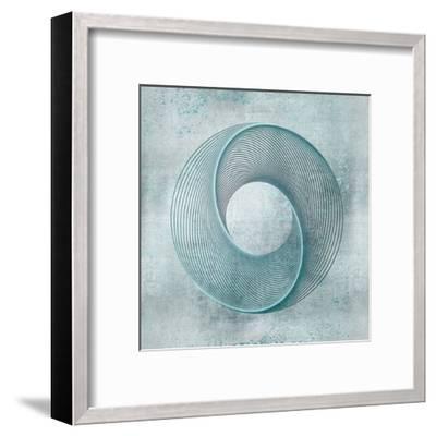 Teal Line Art-Lebens Art-Framed Art Print