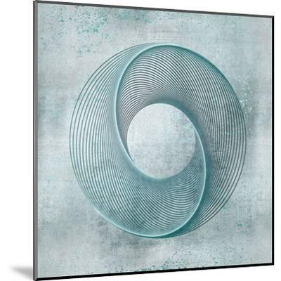 Teal Line Art-Lebens Art-Mounted Art Print
