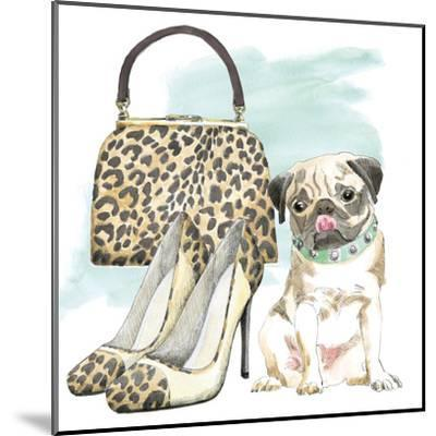 Glamour Pups IV-Wild Apple Portfolio-Mounted Art Print