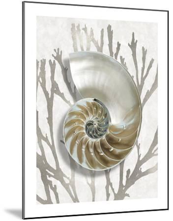 Shell Coral Silver II-Caroline Kelly-Mounted Giclee Print