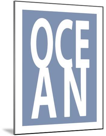 Ocean Blue-Jamie MacDowell-Mounted Giclee Print