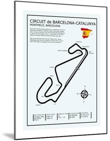 Barcelona-Catalunya Circuit-Mark Rogan-Mounted Giclee Print