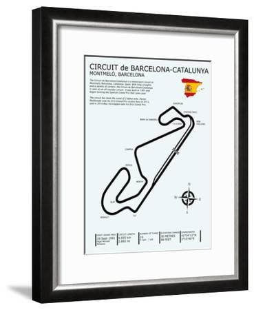 Barcelona-Catalunya Circuit-Mark Rogan-Framed Giclee Print