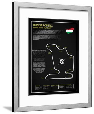 Hungaroring BL-Mark Rogan-Framed Giclee Print