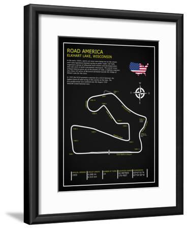 Road America BL-Mark Rogan-Framed Giclee Print
