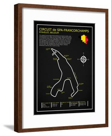 Spa-francorchamps Circuit BL-Mark Rogan-Framed Giclee Print