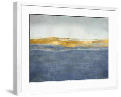 Linear Gold on Blue-Jake Messina-Framed Giclee Print