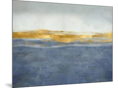 Linear Gold on Blue-Jake Messina-Mounted Giclee Print