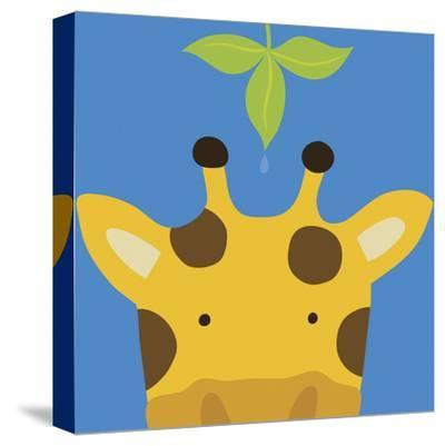 Peek-a-Boo Giraffe-Yuko Lau-Stretched Canvas Print