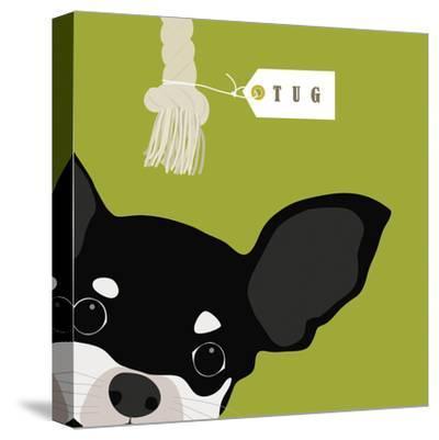 Peek-a-Boo Chihuahua-Yuko Lau-Stretched Canvas Print