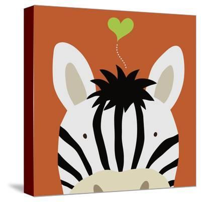 Peek-a-Boo XII, Zebra-Yuko Lau-Stretched Canvas Print