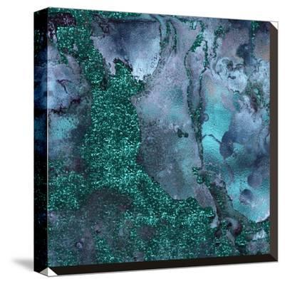 Abstract Malachite Gemstone--Stretched Canvas Print