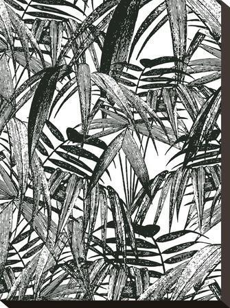 Vintage Palm Leaf-Lebens Art-Stretched Canvas Print