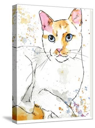 Orange Siamese-Allison Gray-Stretched Canvas Print