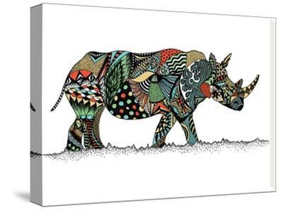 Rhino-Patricia Pino-Stretched Canvas Print