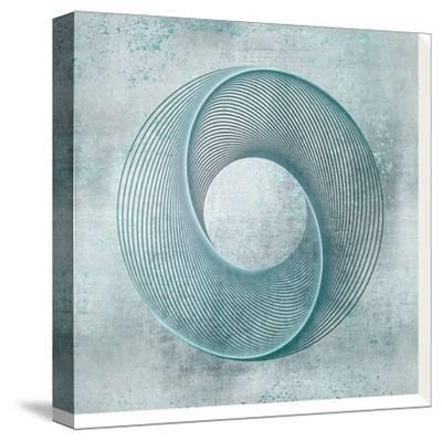 Teal Line Art-Lebens Art-Stretched Canvas Print