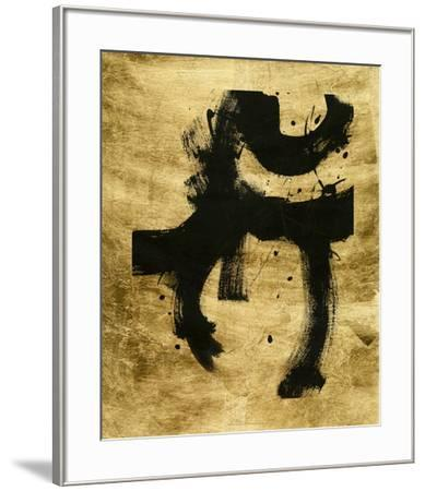 Lustr Onyx Gesture I-June Vess-Framed Art Print