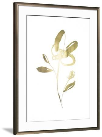 Gold Foil Sumi-e I-Jennifer Goldberger-Framed Art Print