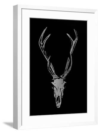 Silver Foil Rustic Mount I on Black-Ethan Harper-Framed Art Print