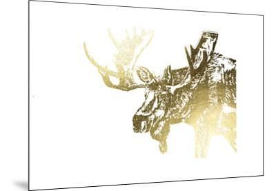 Gold Foil Moose-Naomi McCavitt-Mounted Art Print