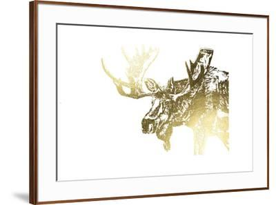 Gold Foil Moose-Naomi McCavitt-Framed Art Print