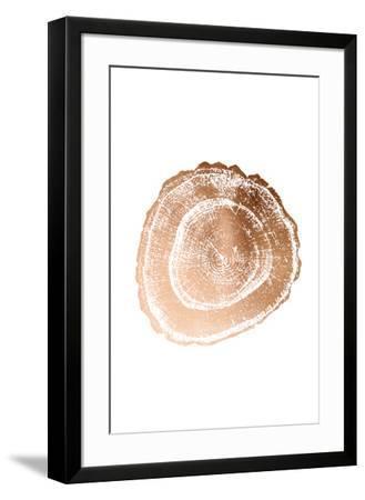 Rose Gold Foil Tree Ring III-Vision Studio-Framed Art Print