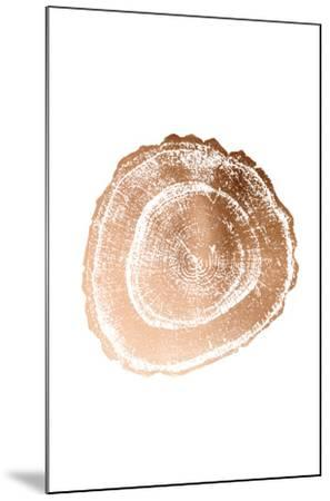 Rose Gold Foil Tree Ring III-Vision Studio-Mounted Art Print
