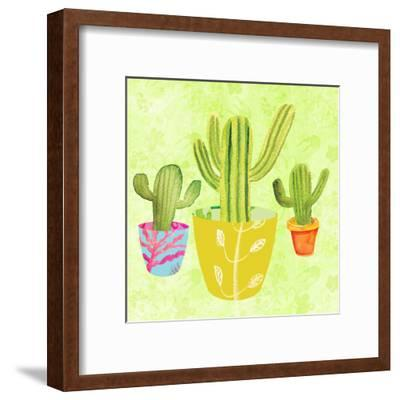 Floral Cacti Pots 2-Kristine Lombardi-Framed Art Print