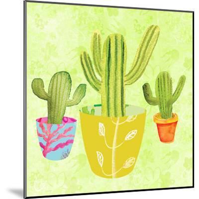 Floral Cacti Pots 2-Kristine Lombardi-Mounted Art Print
