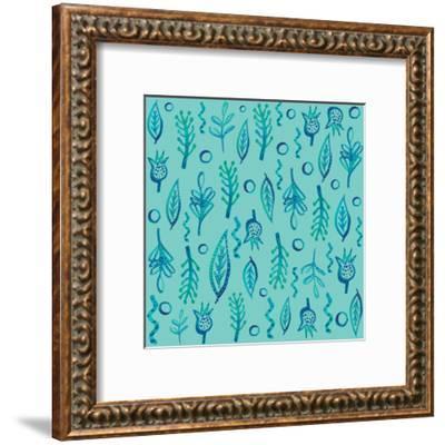 Blue Kelp 2-Kristine Lombardi-Framed Art Print
