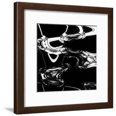 Displaced Black And White-Ashley Camille-Framed Art Print