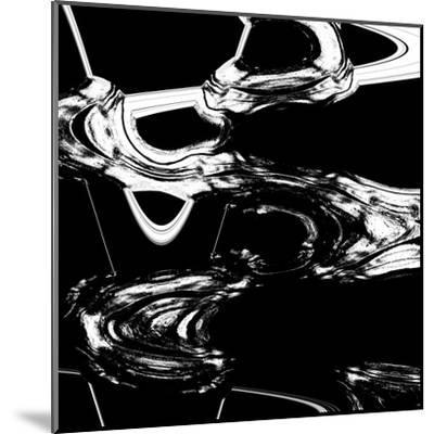 Displaced Black And White-Ashley Camille-Mounted Art Print