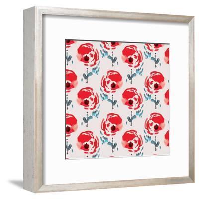 Flower Parade-Rebecca Prinn-Framed Art Print