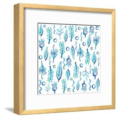 Blue Kelp-Kristine Lombardi-Framed Art Print