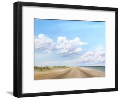 A Walk Along The Beach 3-Hans Paus-Framed Art Print