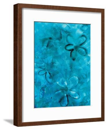 Indigo Water Floral-Kristine Lombardi-Framed Giclee Print