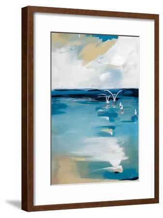 Coastal Blues-A. Fitzsimmons-Framed Giclee Print