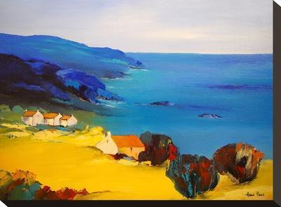 Village At The Lake 2-Hans Paus-Stretched Canvas Print