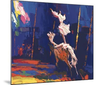 Woman Standing on a Horse (Without Border)-Unknown-Mounted Serigraph