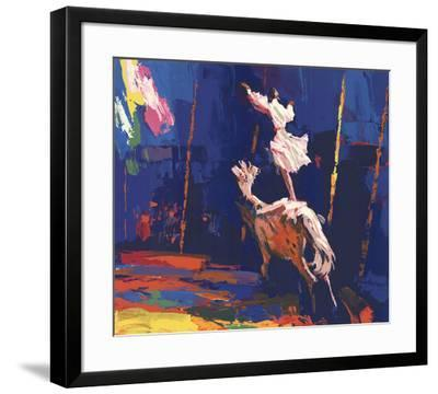 Woman Standing on a Horse (Without Border)-Unknown-Framed Serigraph