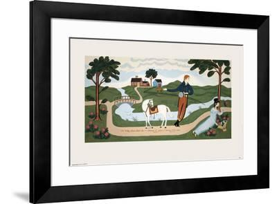 The Valley Farm Road (1810), Elkanah L. Sears and Maria F. Crocker-Unknown-Framed Serigraph