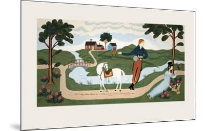 The Valley Farm Road (1810), Elkanah L. Sears and Maria F. Crocker-Unknown-Mounted Serigraph