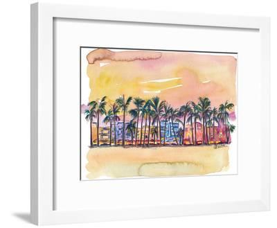 Miami Florida Ocean Drive-Markus Bleichner-Framed Art Print