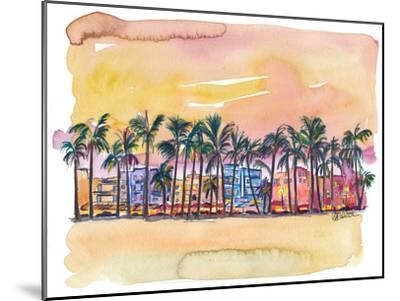 Miami Florida Ocean Drive-Markus Bleichner-Mounted Art Print