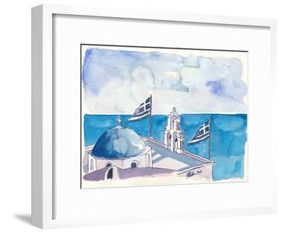 Santorini Oia Greece-Markus Bleichner-Framed Art Print