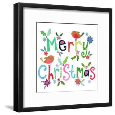 Merry Christmas Robins-Liz and Kate Pope-Framed Art Print
