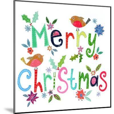 Merry Christmas Robins-Liz and Kate Pope-Mounted Art Print