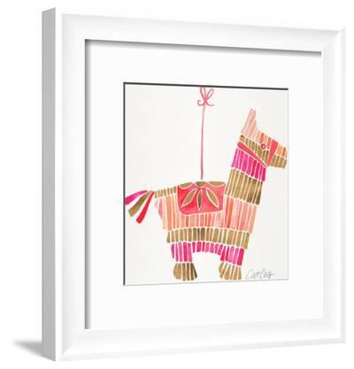 Piñata Pink Rose Gold-Cat Coquillette-Framed Art Print