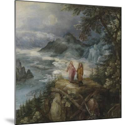 Wide Mountain Landscape with the Temptation of Christ-Pieter Bruegel the Elder-Mounted Premium Giclee Print